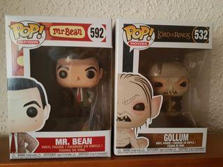 Funko Pop Gollum y Mr. Bean ENVIO GRATIS CERTIF.