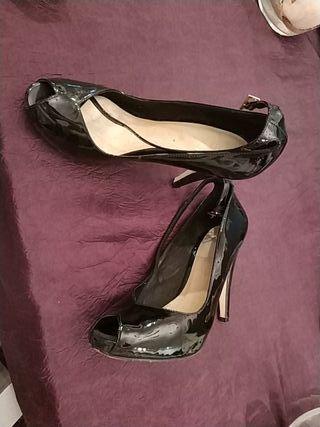 zapatos tacon menbur charol talla 38