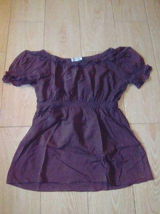 camiseta marrón talla S