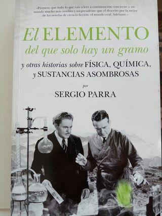 El elemento del que sólo hay un gramo.Sergio Parra