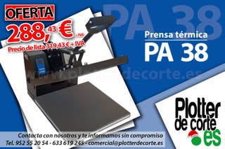 Prensa termica profesional economica 38x38 cm