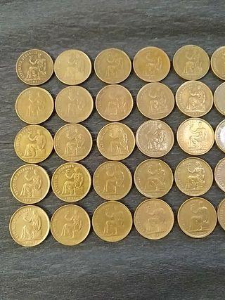 lote 50 monedas antiguas 2 República Española 1937