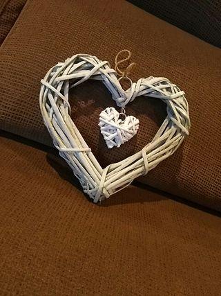 Corazón vintage, decoración boda.