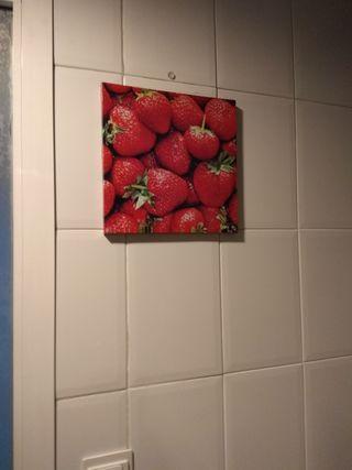 cuadros pequeños frutas cocina