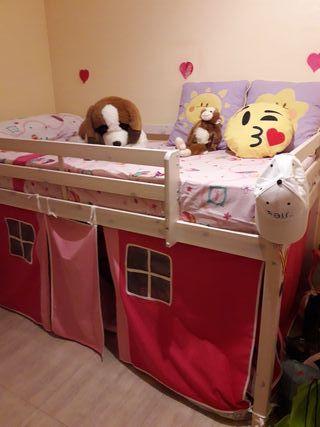 cama litera niña