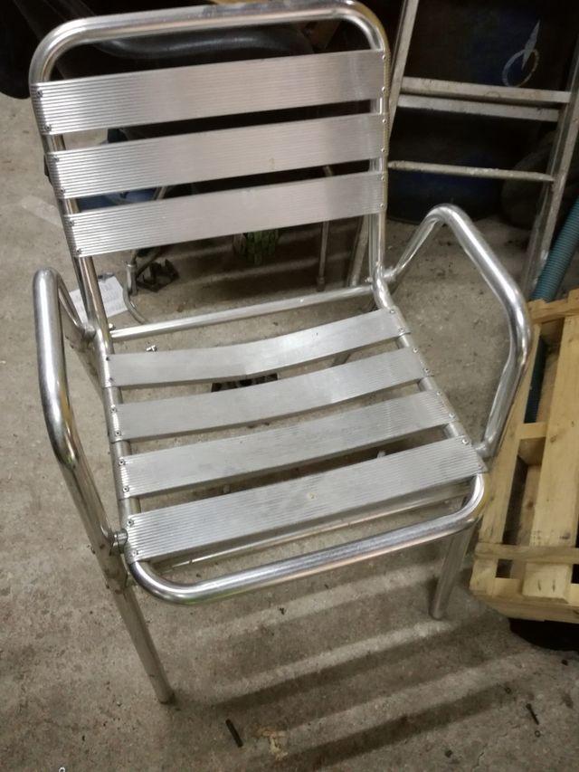 Sillas de terraza de aluminio latest sillas de terraza de aluminio with sillas de terraza de - Mesa plegable eroski ...