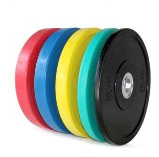discos olímpicos bumper color