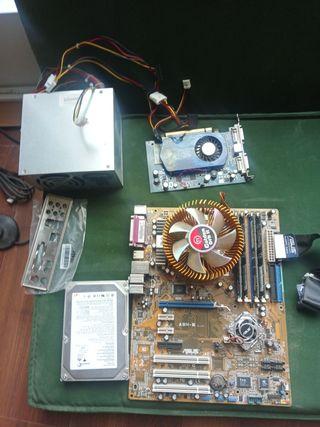 placa base,disco duro, etc