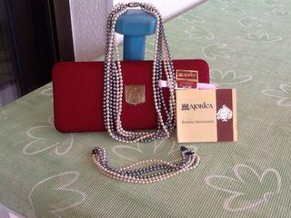 Collar y pulsera, perlas majorica