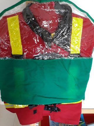 disfraz de bombero talla de 8 a 9 años