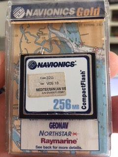 Navionics compac Mediterraneo west