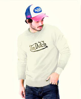 Von Dutch Logo Men's Long Sleeve Sweater