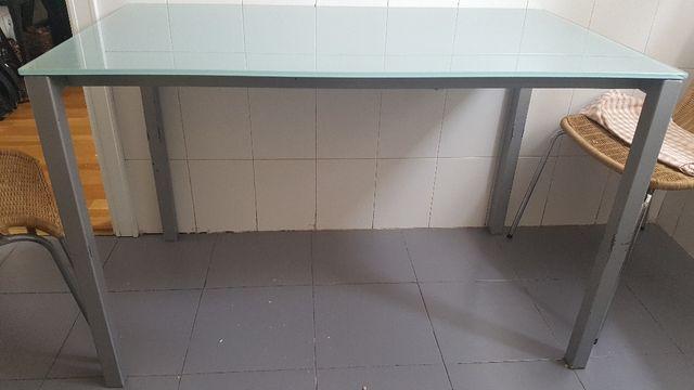 Mesa cocina o comedor vidrio templado de segunda mano por 60 € en ...