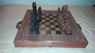 caja de ajedrez incompleto