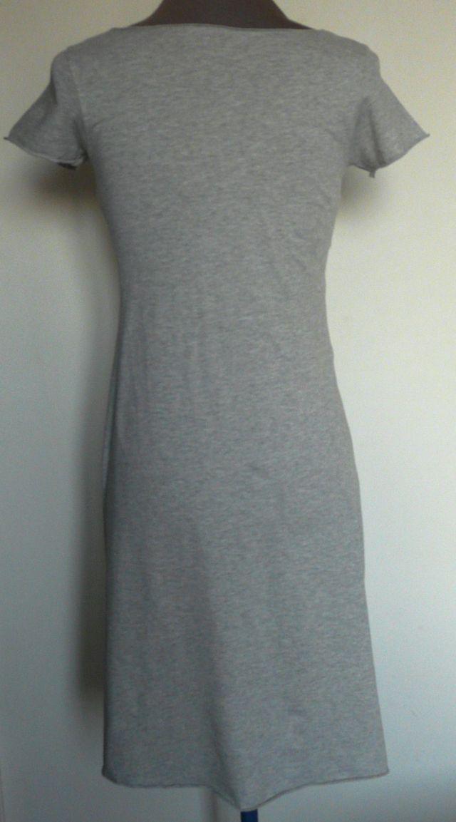 robe grise coton et lin T.36 Majestic