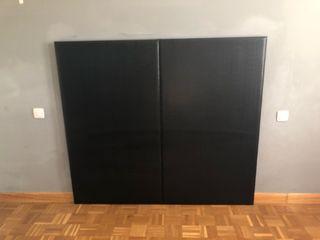 Cabecero piel negro 150 cm