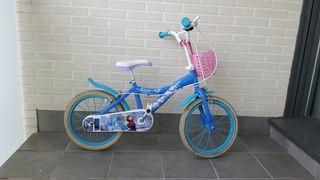 """Bicicleta infantil 16"""" frozen"""