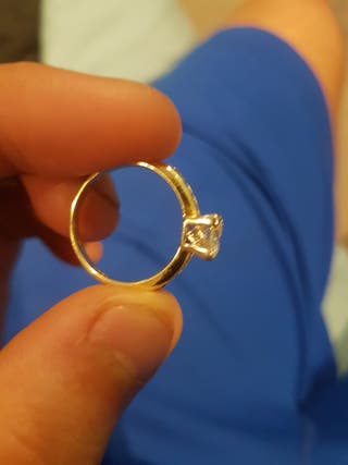 24 carat gold and dimond ring