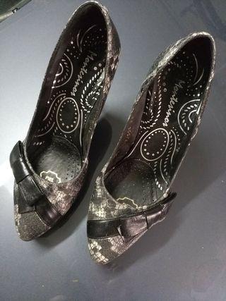 zapato Piel Tacon fino