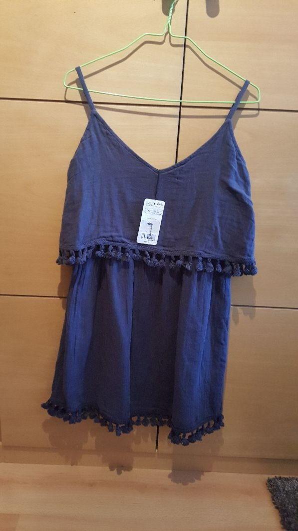 11eda9a89e Vestido azul de Mango. Nuevo con etiqueta de segunda mano por 20 ...