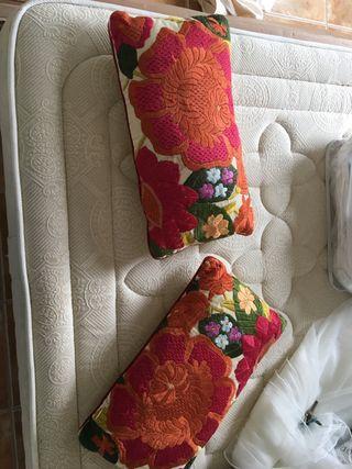Cojines bordados colores