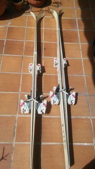 2 pares skis blizzard + 2 pares de botas de skis