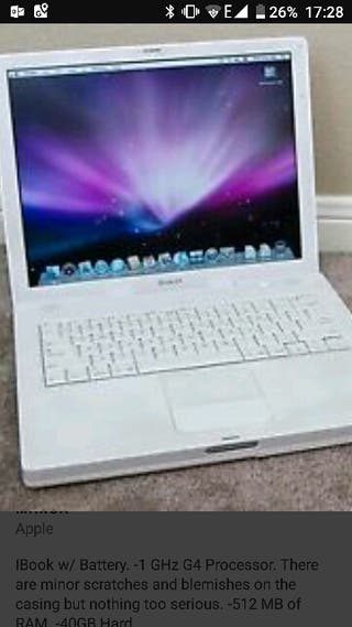 Ordenador portátil iBook g4