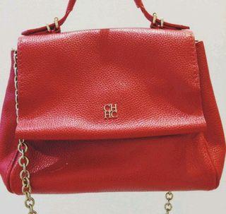 Bolso Carolina Herrera piel rojo auténtico
