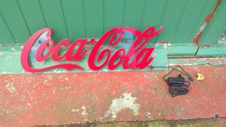 Rotulo neon de Coca Cola