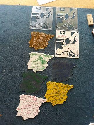 mapas de plastico para estudio