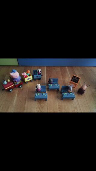 Conjunto muñecos peppa pig
