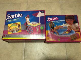 Lote de juguetes antiguos de barbie