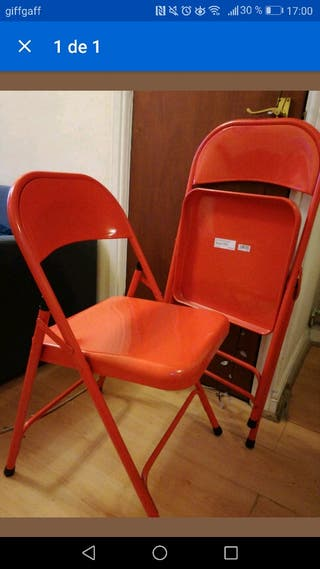 chair metal red