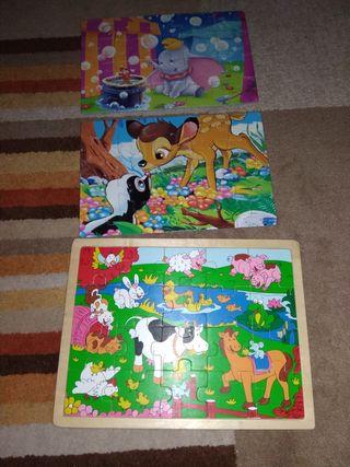 3 puzzles de 20 piezas