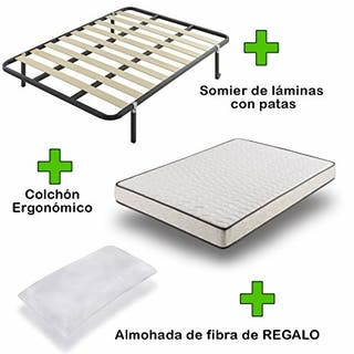 Cama de colchón viscoelástica + somier