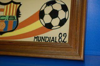 Coleccionismo futbol ceramica cuadro F.C BARCELONA