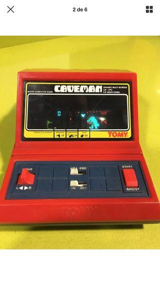 Tabletop tomy Caveman roja,juguete antiguo,años 70,años 80,Game watch Nintendo,konami,spectrum,Atari,Bandai,sega,msx,lcd color,consola,videojuego,