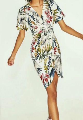 Zara vestido flores S