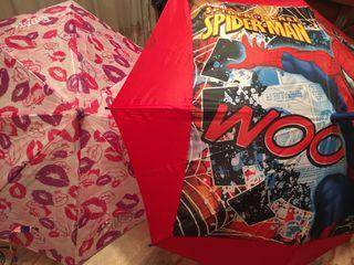 Paraguas Bratz y Spider-Man