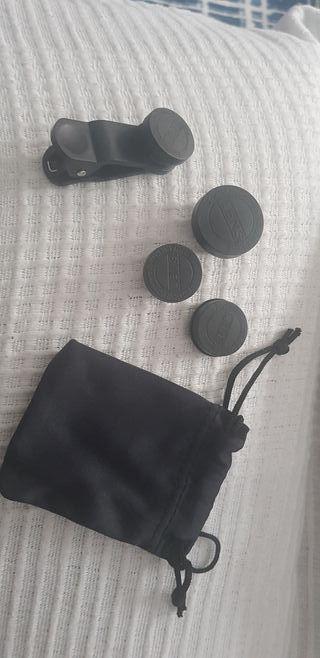 Lentes cámara móvil con pinza