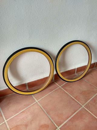 Neumáticos bici antigua de paseo