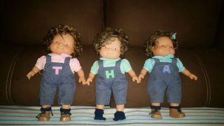 Muñecas de famosa, 3 mellizas