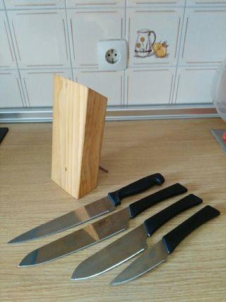 Set de cuchillos mas afilador