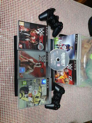 ps3 con varios juegos