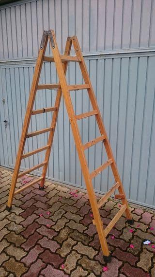 Escalera madera 2 metros buen estado