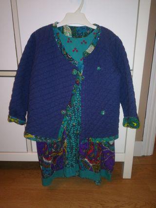 vestido y chaqueta niña