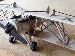 avioneta decorativa de metal