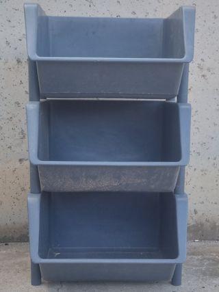 Caixa apilable (lot 3 unitats)