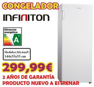 Congelador vertical Infiniton blanco A+ NoFrost