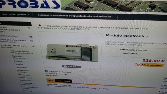 Modulo Electronico Ariston Hotpoint Aq8d49u De Segunda Mano Por 110 En Puerto De Sagunto En Wallapop